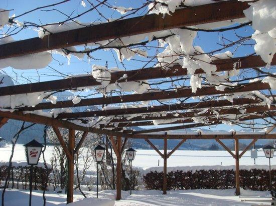 Landgasthof Weissenbach : Gastgarten im Winter