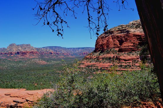 Devil's Bridge Trail: view from where we ate lunch
