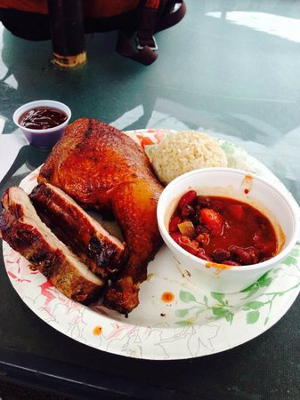 Chicken In A Barrel BBQ: The excellent food