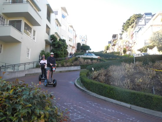 City Segway Tours San Francisco : Riding down Lombard Street