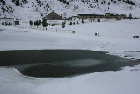 Vall de Nuria : lago helado