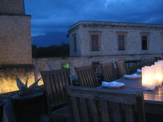 Casa Oaxaca  Restaurant: View at dusk