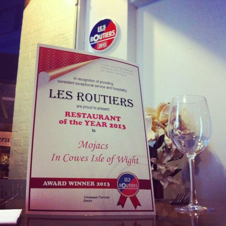 Mojac's Restaurant and Bar: Les Routiers Restaurant of the Year 2013 what an achievement