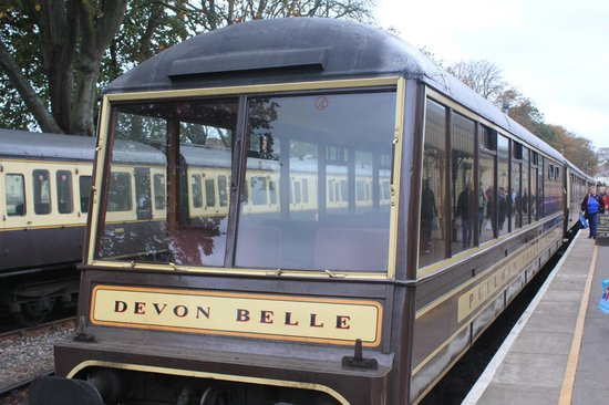 Dartmouth Steam Railway and River Boat Company: Devon Belle observation car. £6 return supplement payable but worth every penny in my view.