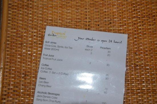 Tropical Garden Lounge Hotel: 24 std. room service
