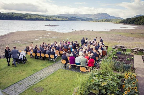 Venachar Lochside: Outdoor wedding venue