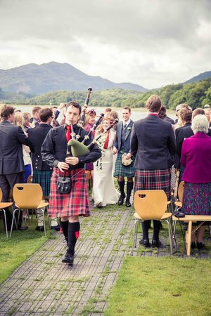 Venachar Lochside: Outdoor ceremony