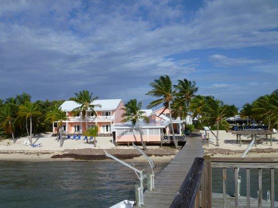 Little Cayman Beach Resort : View of resort from dock