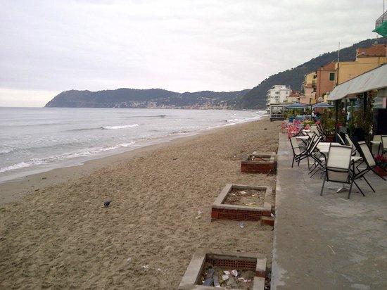 Hotel Ligure: spiaggia di fronte all'hotel