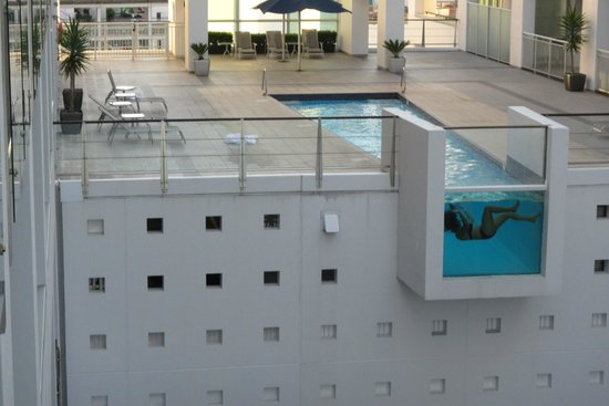 Hilton Auckland: Pool floating