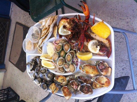 The Oyster Farm Shop: Fantastic platter