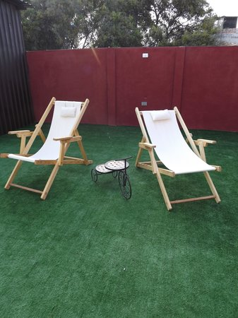 La Catrina Hostel and Breakfast: Tenemos tres espacios al aire libre... este es uno de ellos...