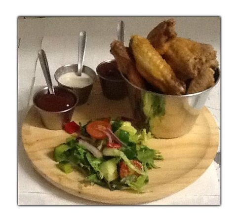 The Step Inn: Tasty Bucket Of Chicken Wings - Plain or Hot As You Like !