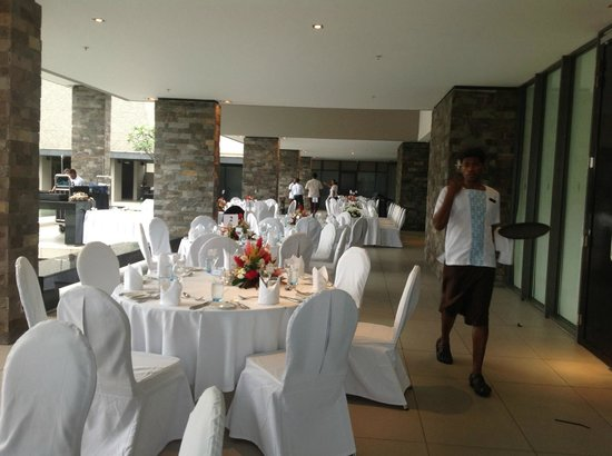 InterContinental Fiji Golf Resort & Spa: The reception area for the wedding