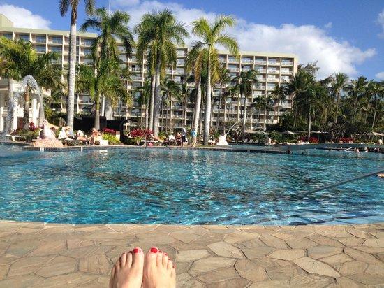 Kaua'i Marriott Resort: Pool area