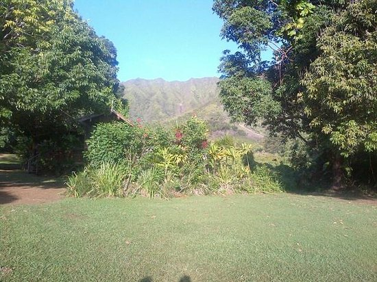 Kahili Mountain Park : Mountain ridge behind park