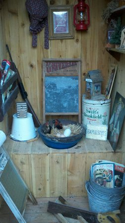 Guest House Log Cottages: The old outhouse