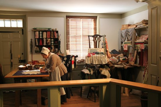 Betsy Ross House: Betsy in her Upholstery shop