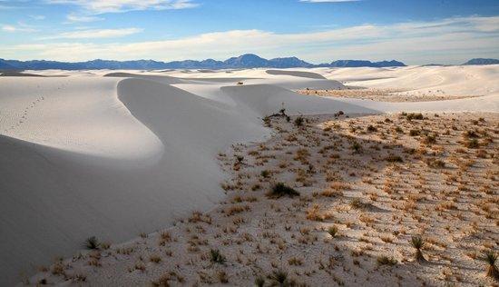 White Sands National Monument: Shifting White Sand dunes