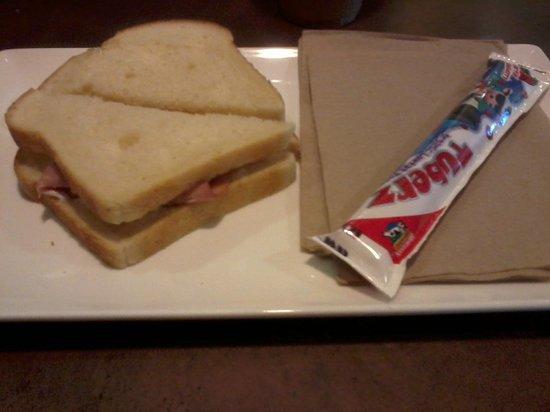 Panera Bread : Kids meal: ham sandwhich and a yogurt