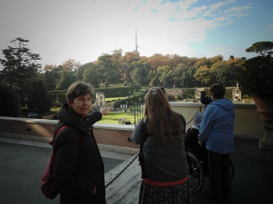 Walks Inside Rome: Pointing out the view of the Vatican Gardens