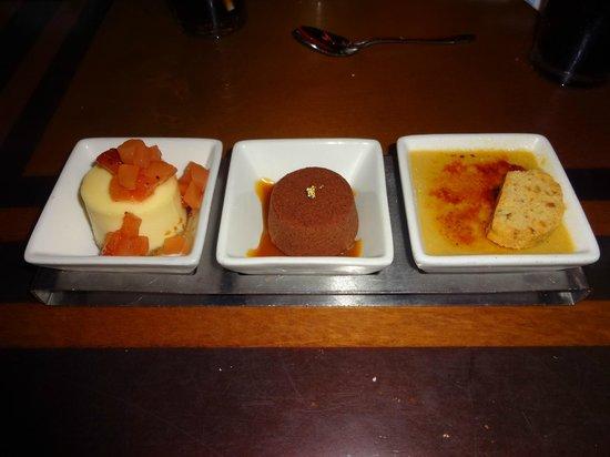 The Wave… of American Flavors: Creamy Indulgence dessert trio