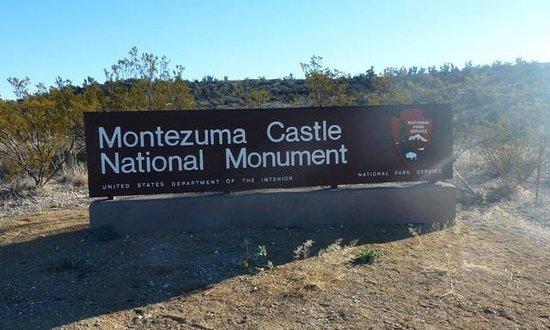 Montezuma Castle National Monument: National Monument Sign