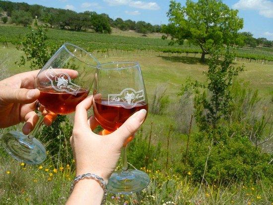 Flat Creek Estate Winery: CHEERS!