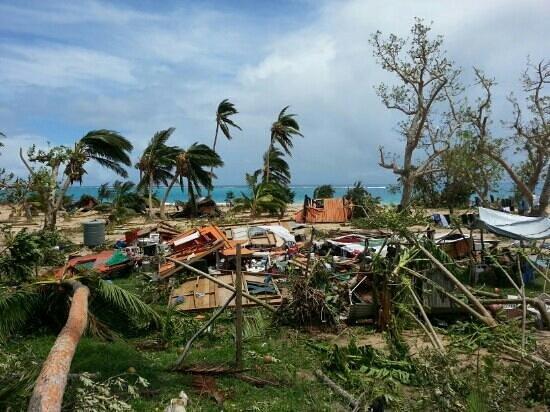Taiana's Resort: Taiana's place after hurricane Ian, Jan 11th 2014.
