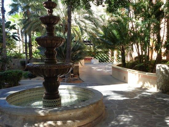Garden fountains outside suite 1314