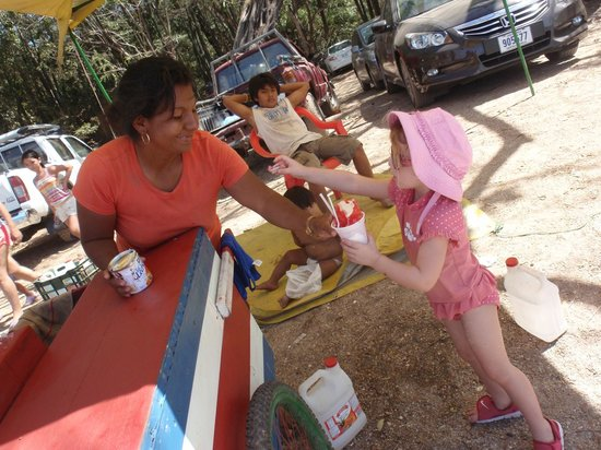 "Conchal Hotel: Buying a ""snow cone"" at Playa Conchal"