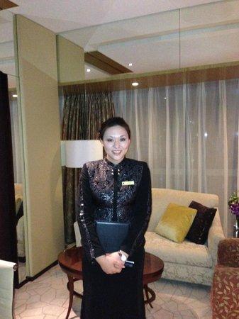 Shangri-La Hotel, Beijing : in-room ckeck-in