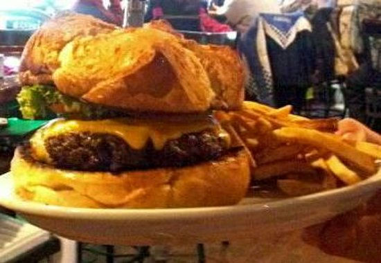 Conover, WI: Dublins ONE POUND Huetten Burger. Some even call it the belly buster.
