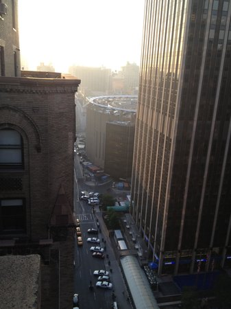 View from balcony to Madison Square Garden Picture of Stewart