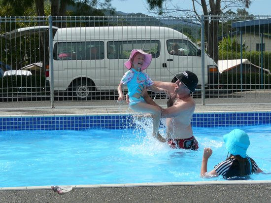 Coromandel TOP 10 Holiday Park: Flying Rose!