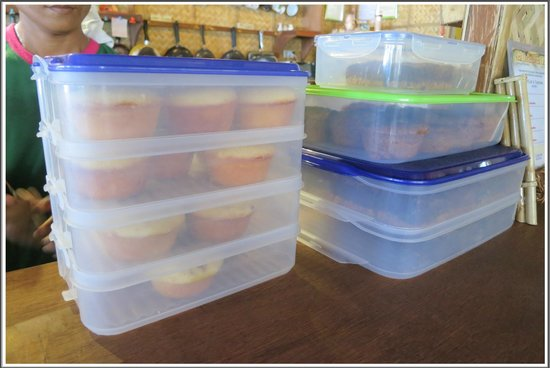 Real Coffee & Tea Cafe: Muffins' storage area