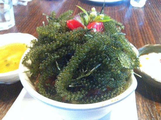 fuu cafe: Superb Sea Grapes with Pork lunch