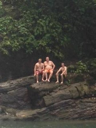 Baru Waterfall Adventure Tours: Rocks to relax on out of the water