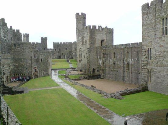 Caernarfon Castle: The castle on a rainy day!