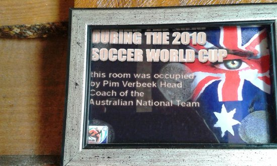 Kloofzicht Lodge & Spa: The head coach of the Australian soccer team occupied the room in 2010.