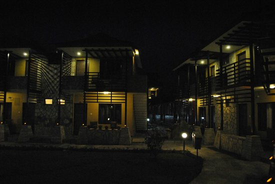The Lakeside Retreat: The resort at night