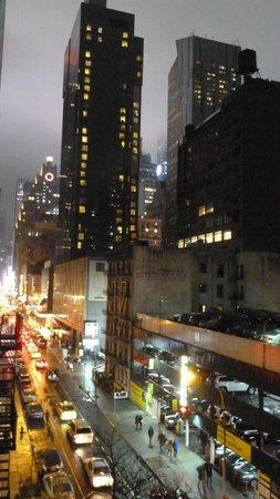Comfort Inn Times Square West: vue de notre chambre vers Times Square