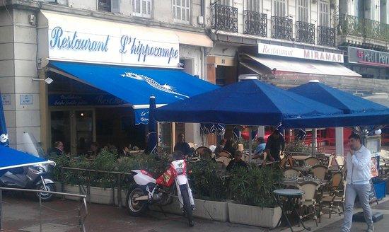La terrasse de l 39 hippocampe picture of le restaurant l for Restaurant le jardin marseille