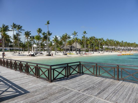 Barcelo Bavaro Beach - Adults Only : La plage vue du ponton