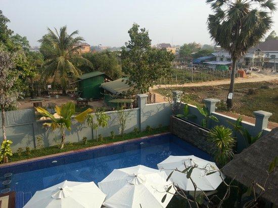 3 Monkeys Villa: Pool view from room