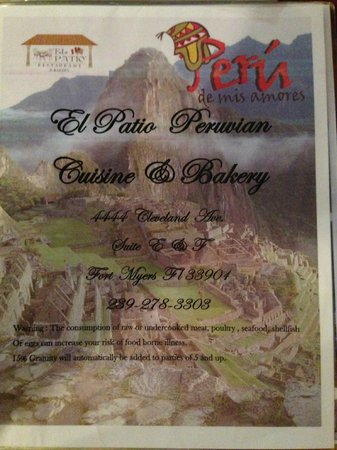 Captivating El Patio Restaurant: The Menu