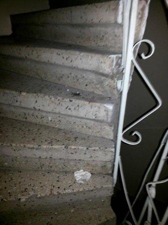 Blue Istanbul Hotel: Estado escalera acceso a las suites