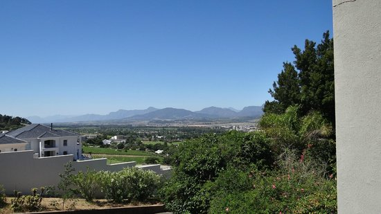 Paarl Boutique Hotel: The view from the hotel