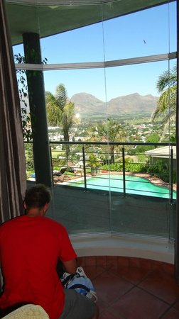 Paarl Boutique Hotel: The view from the room