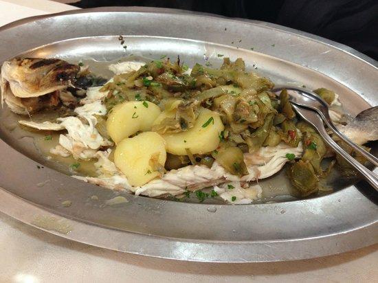 Da Marcello : branzino con carciofi e olive